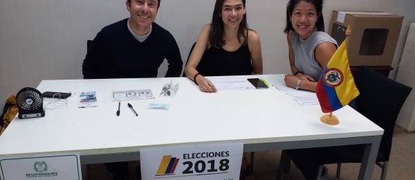 Inició la jornada electoral presidencial 2018 para la segunda vuelta en el Consulado de Colombia en Hong Kong
