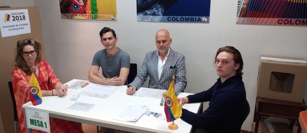 Segunda vuelta presidencial 2018 culmina hoy domingo 17 de junio en el Consulado de Colombia en Hong Kong