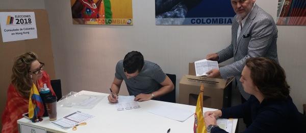El Terminó las votaciones de la segunda vuelta presidencial en el Consulado de Colombia en Hong Kong