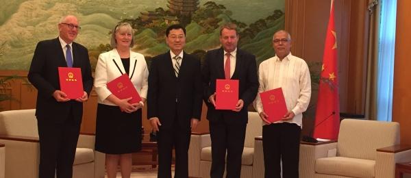 Cónsul General de Colombia en Hong Kong se acreditó ante el Ministerio de Relaciones Exteriores de la República Popular China