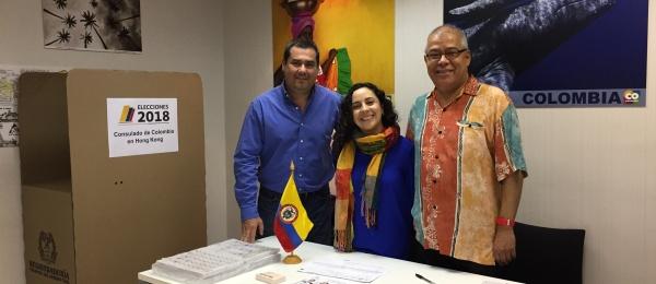 Consulado de Colombia en Hong Kong inició la jornada final del proceso electoral en el exterior para Congreso y consultas interpartidistas 2018