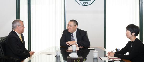 Primera visita del Cónsul de Colombia en Hong Kong al Jefe Ejecutivo de la Región de Macao