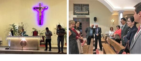 El Consulado en Asunción realizó una eucaristía con ocasión de la visita del Papa Francisco a Colombia